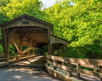 Covered Bridge - Mill Creek Metroparks - **HIGH-QUALITY** shot by Award Winning Photographer Andrew Gacom