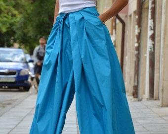 Cotton Plus Size Samurai Pants, Extravagant Wide Leg Pants, Palazzo Harem Pants, Loose Trousers By SSDfashion
