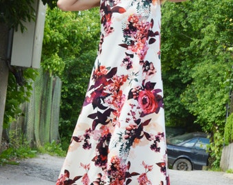 Extravagant Long Dress, Plus Size Dress, Maxi Dress, Party Dress, Daywear Top, Elegant Dress, Fashion Dress by SSDfashion