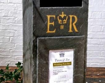 Natural Slate Wedding Postbox