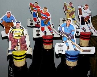 NHL table hockey wine stopper