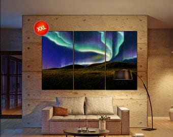 northern light  canvas northern light wall decoration northern light canvas art northern light large canvas  wall decor