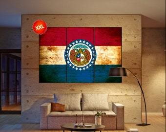 New Mexico State Flag Canvas Art Print Large Wall Art Canvas
