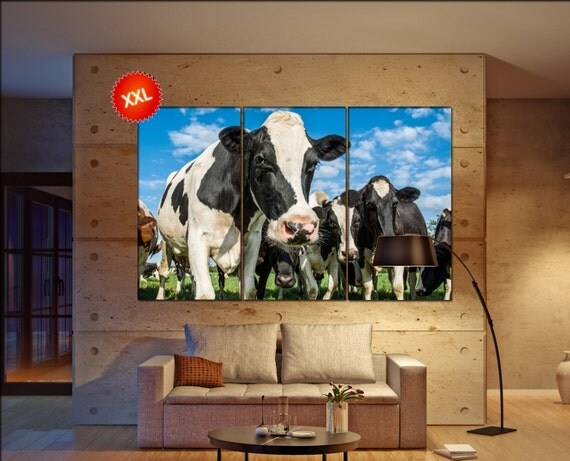 Cow  canvas wall art Cow wall decoration Cow canvas wall art art Cow large canvas wall art  wall decor