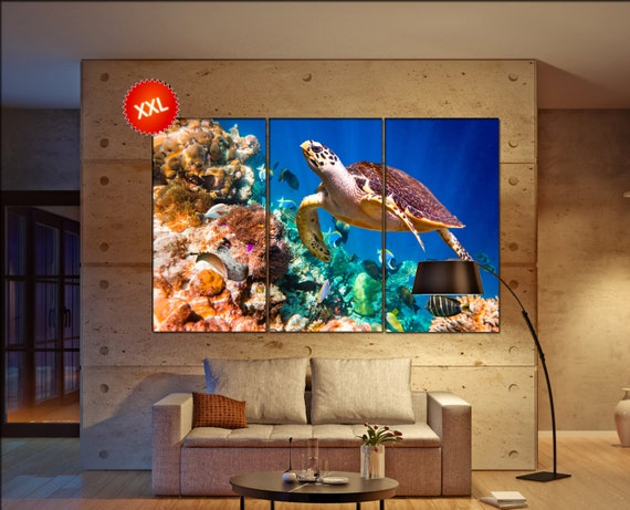 Turtle  canvas wall art Turtle wall decoration Turtle canvas wall art art Turtle large canvas wall art  wall decor