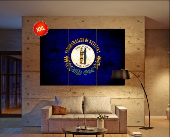 kentucky state flag  canvas kentucky state flag wall decoration kentucky state flag canvas art kentucky state flag large canvas