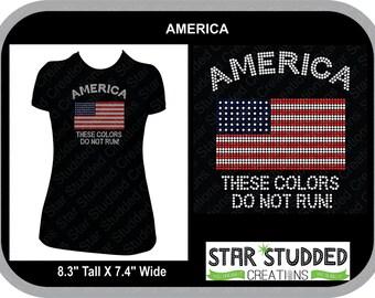 AMERICA, These Colors Don't run!!!!!  HOORAH!  American Pride in Spangle