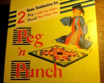 Vintage Peg 'n Punch Game in Box