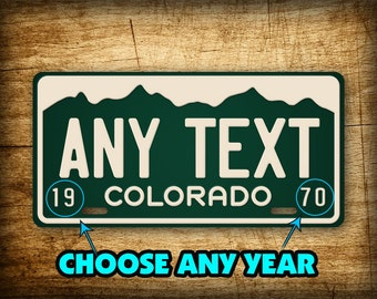 "Vintage Colorado License Plate Antique Replica Auto Tag PERSONALIZED Customized ""ANY TEXT"" Co. Aluminum Sign"