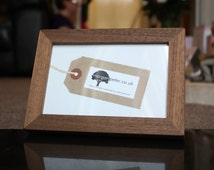 Wood frame - Walnut picture frame - for photos 4x6 5x7 6x8 7x9 8x10 custom wooden picture frame