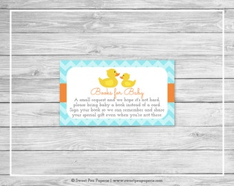 Rubber Ducky Baby Shower Book Instead of Card Insert - Printable Baby Shower Books for Baby - Rubber Duck Baby Shower - SP122