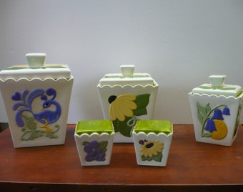 Handmade Ceramic 3-piece Canister Set