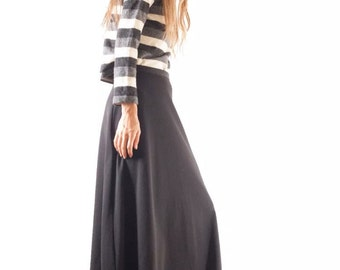Dorothy Perkins Gathered Black Maxi Skirt small
