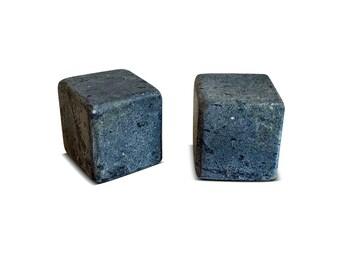 Whiskey Stones Soapstone Rock Ice Cubes - Large Size - Set of 2