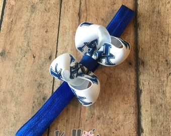 Kentucky wildcats headband-UK fans-UK headband-baby headband-royal blue headband.