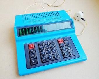 "Soviet vintage calculator machine ""Electronics"" 1981"