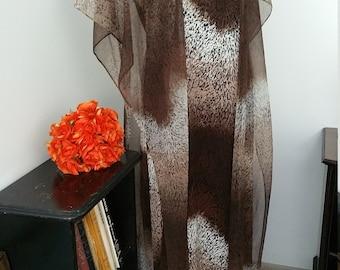 Fabulous Mary Martin of Florida Animal Print Caftan Style Dress. Size Vintage 18