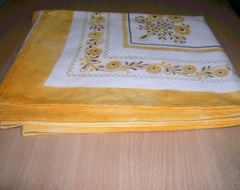 sale! Beautiful linen tablecloth 100% natural.Ukrainian Soviet vintage handmade.