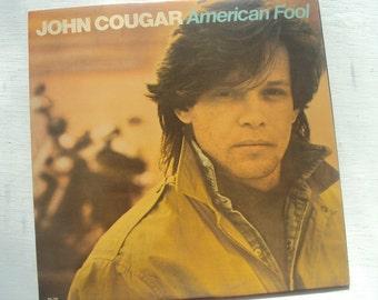 John Cougar Mellencamp American Fool Vintage Vinyl LP Record