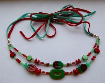 Velvet Ribbon Tie Necklace