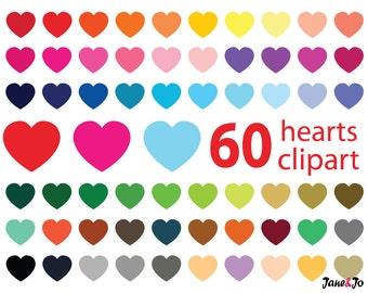 Hearts Clipart,Heart Clip art,Hearts Instant Download,Valentine Clipart,rainbow heart,Digital Hearts Clipart,Colorful Clip art,valentine day