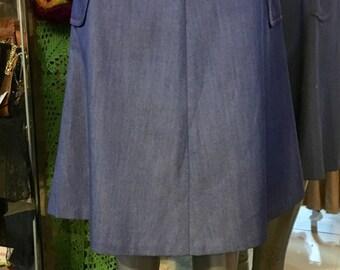 1970' A-line denim skirt. Size S.