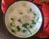 Beautiful ceramic plate, oriental design, oriental plate, nature inspired design, collectable plate