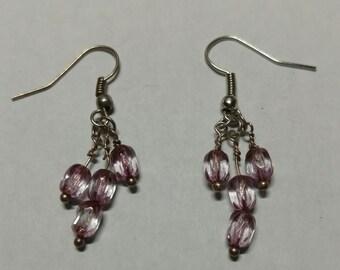 Lavender beaded earring