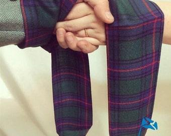 Tartan Hand Fasting Ribbon - hemmed, pointed, Lightweight Tartan