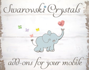SWAROVSKI CRYSTAL BEADS for your Lolly Cloth baby mobile. Add charm to your Mobile!