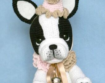 Elfin Thread- Gaspard the French Bulldog Clown PDF Amigurumi Pattern (Crochet French Bulldog)