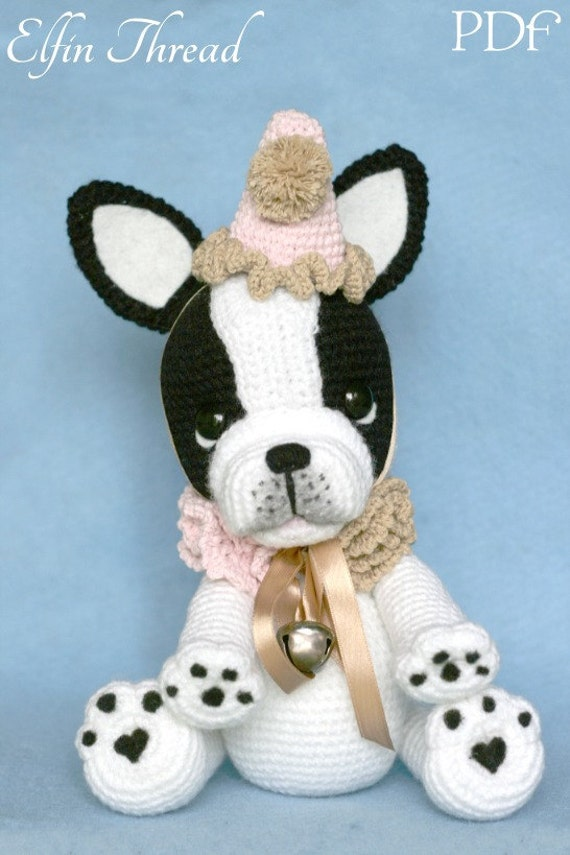 Elfin Thread Gaspard the French Bulldog Clown PDF Amigurumi