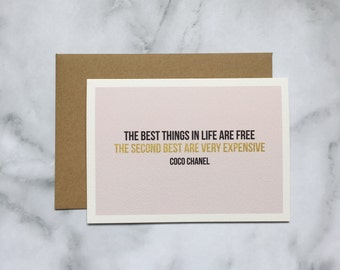 Chanel quote greeting card