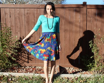 Funky Abstract High Waisted Skirt