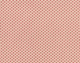 1 YD - Petite Prints (pearl faded red) by French General from MODA Fabrics
