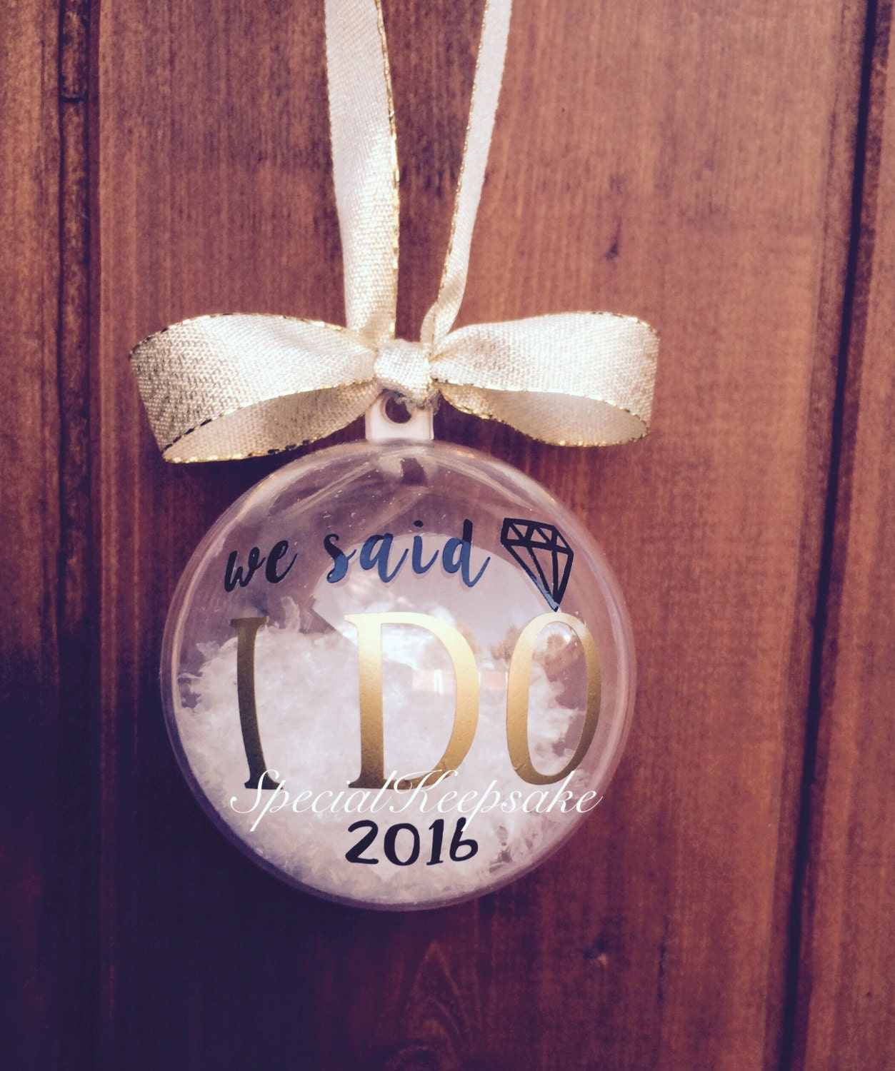 Newlywed ornament - We Said I Do 2016 2017 Christmas Tree Bauble Decoration First 1st Christmas Mr Mrs