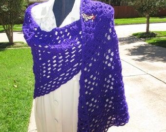 Crochet Shawl: Made to Order Triangle Crochet Shawl