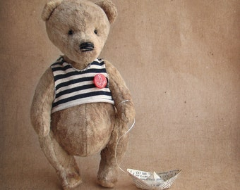 Teddy Bear MITKA.Teddy bear.Vintag teddy.Bear teddy.Old teddy bear. OOAK