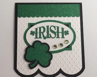 Handmade St. Patty's Card, Shamrock, St. Patrick's Day
