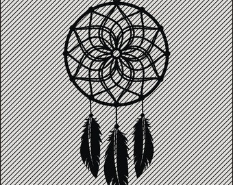 Dream Catcher I -SVG CUTTING FILE - Vinyl Crafts - Digital Instant Download - Diy -Printable clipart  -Cricut -Laser Cutting and Engraving
