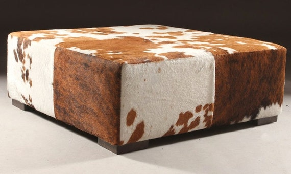 Cowhide Ottoman Coffee Table Bench Custom Made Cocktail By Besofia