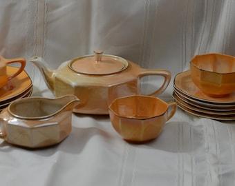 Steubenville 1920s Lusterware Tea Set