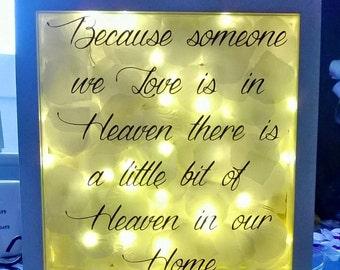 Light box frame,heaven quote,unique light up frame,