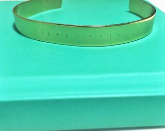 Hallelujah handstamped bracelet / blessed bracelet / baptism confirmation communion gift