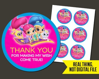 Shimmer and Shine Stickers   Shimmer and Shine Birthday Stickers