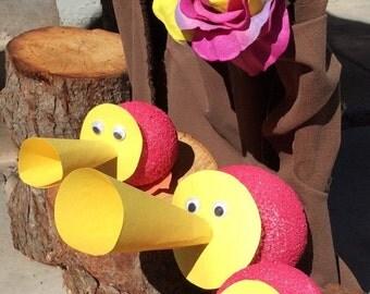 Valentines Sale Alice in Wonderland Party Decorations Trio of Horn Ducks Tulgey Woods
