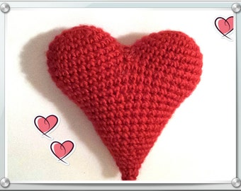 English Pattern - Red Heart (Amigurumi Crochet)