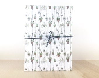 Hanging Plants Gift Wrap, Gift Wrap Paper, Holiday Gift Wrap, Designer Gift Wrap, Hanging Plants, Urban Jungle, Greenhouse Gardening