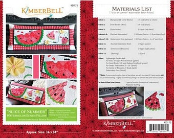 Slice of Summer Watermelon Pillow By Kimberbell Designs #KD175