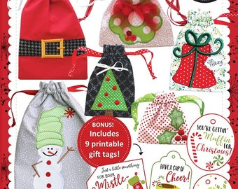 CD It's A Cinch Gift Bags, Volume 2: Christmas Machine Embroidery CD by KimberBell KD632